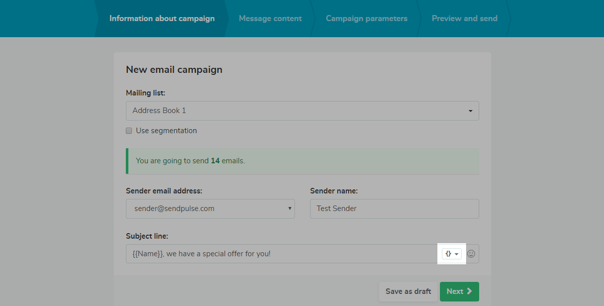 How to send personalized mass emails?   SendPulse