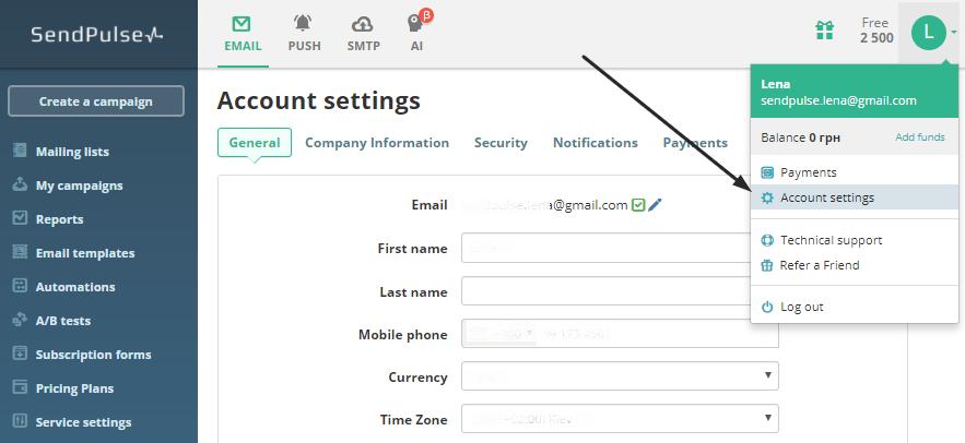 SendPulse Email Plugin for WordPress   SendPulse