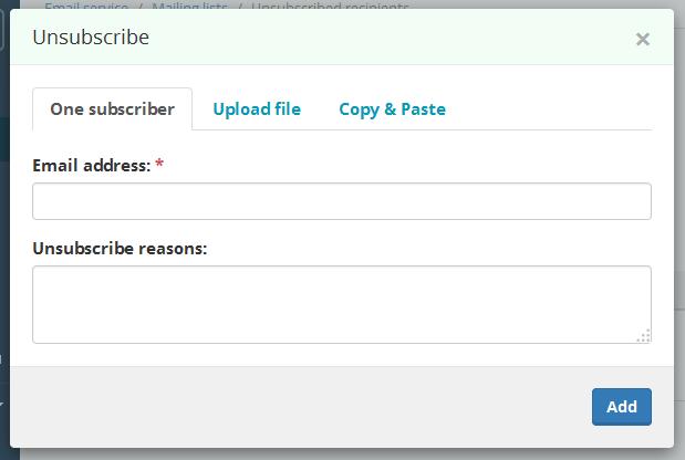 Email address blocking | SendPulse