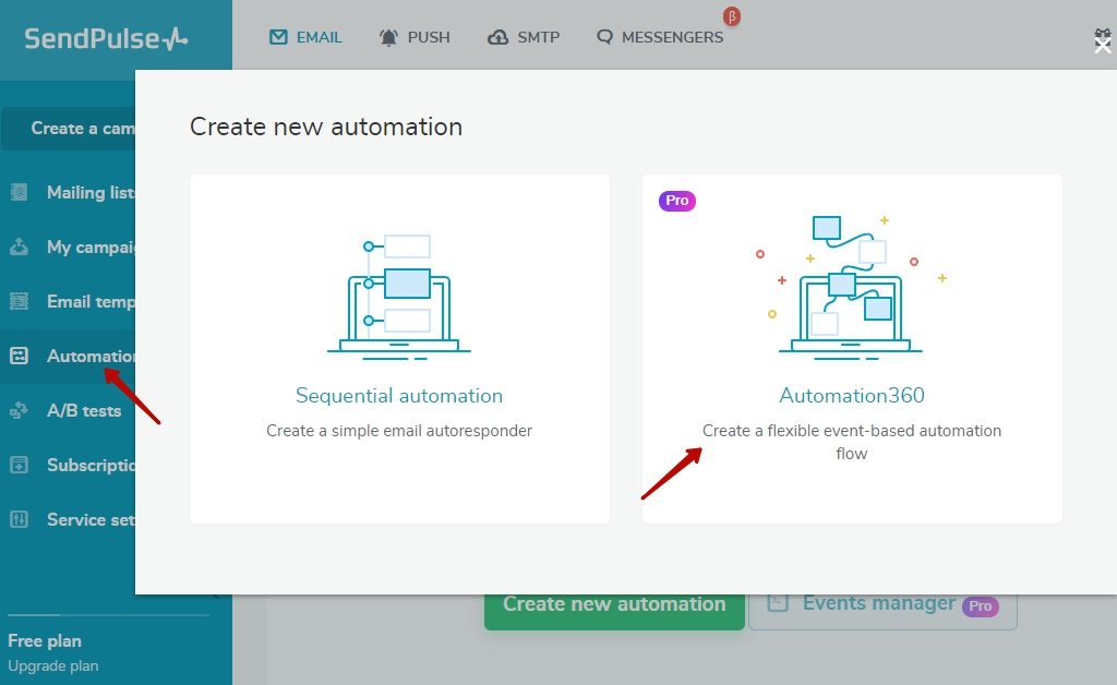Create automation
