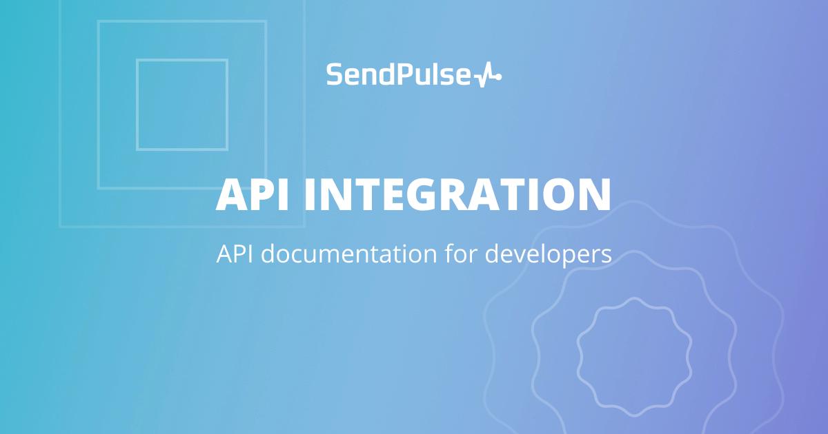 Bulk Email API for Bulk Marketing and Other Needs | SendPulse