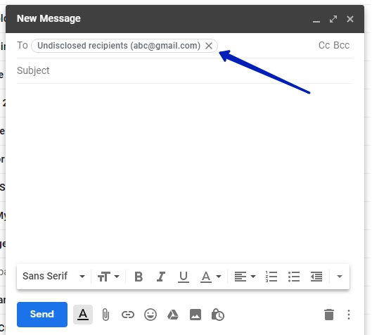 How to send emails to multiple recipients without them